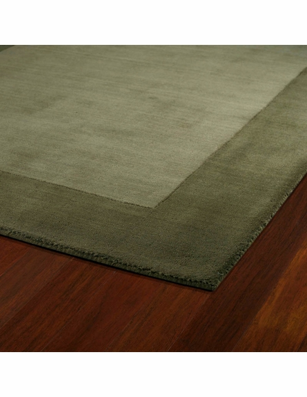 Solid Border Rug in Fern