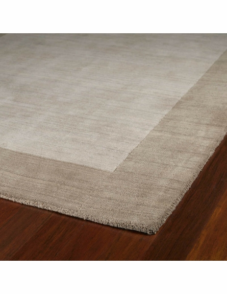 Solid Border Rug in Ivory