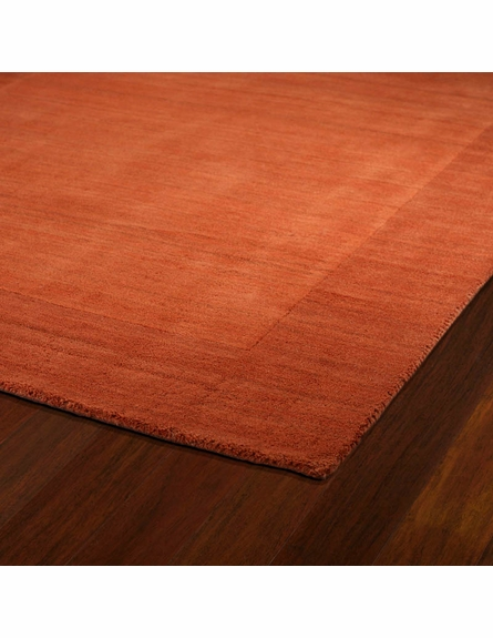 Solid Border Rug in Pumpkin
