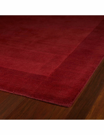 Solid Border Rug in Red