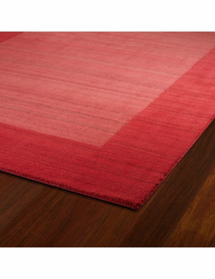 Solid Border Rug in Watermelon