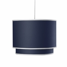 Solid Double Cylinder Pendant Light in Cobalt