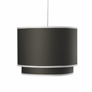 Solid Double Cylinder Pendant Light in Tree Trunk Brown