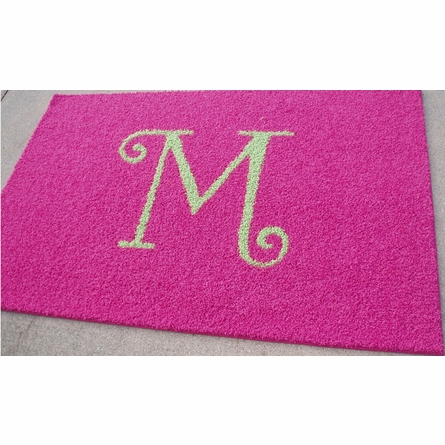 Solid Monogram Rectangle Rug