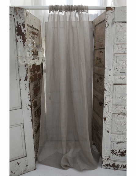 Solid Natural Linen Window Curtain