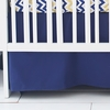 Solid Navy Crib Skirt