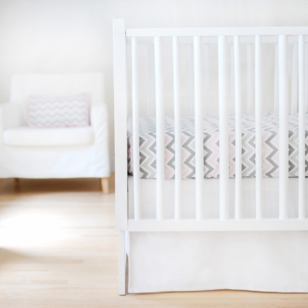 Solid White Crib Skirt