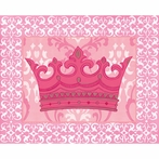 Solitary Pink Crown Canvas Wall Art