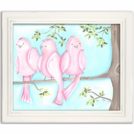 Songbirds Two Canvas Reproduction