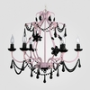 Sonja Gloss Pink Black Crystal Chandelier