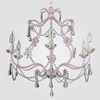 Sonja Gloss Pink Clear Crystal Chandelier