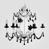 Sonja Matte White Black Crystal Chandelier