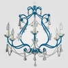 Sonja Neon Blue Clear Crystal Chandelier