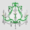 Sonja Neon Green Clear Crystal Chandelier