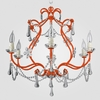 Sonja Neon Orange Clear Crystal Chandelier