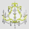 Sonja Neon Yellow Clear Crystal Chandelier