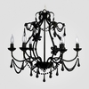 Sonja Satin Black Crystal Chandelier