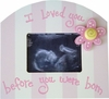 Sonogram Picture Frame in Pink