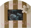 Sonogram Picture Frame in Pink and Chocolate