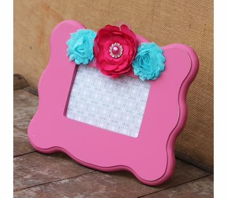 Sophie Pink Scalloped Picture Frame