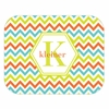Sorbet Chevron Personalized Mouse Pad
