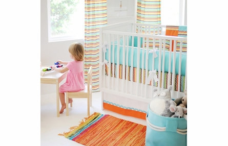 Southwest Small Chevron Crib Sheet