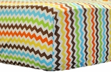 Southwest Small Chevron Crib Sheet $(+56.00)