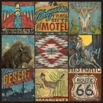 Southwestern Collage Canvas Wall Art