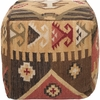 Southwestern Pouf in Brown and Beige