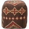 Southwestern Pouf in Dark Chocolate and Burnt Sienna