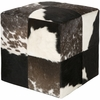 Southwestern Pouf in Espresso and Winter White