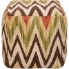 Southwestern Pouf in Parchment and Coffee Bean