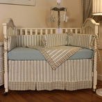 Spa Blue Crib Bedding Set