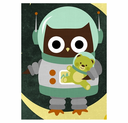 Space Buddies Canvas Reproduction