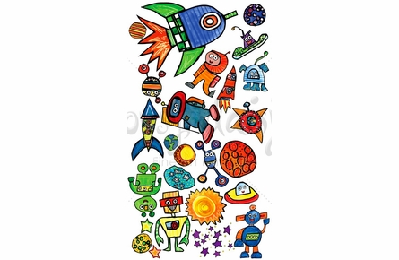 Space World Peel & Place Wall Stickers