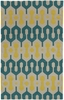 Spain Rug in Blue Green Yellow