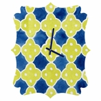 Spanish Tiles Quatrefoil Wall Clock
