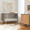 Sparrow Convertible Crib in Gray