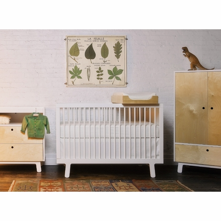 Sparrow Convertible Crib in White
