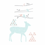 Sparrow Deer Wall Decals