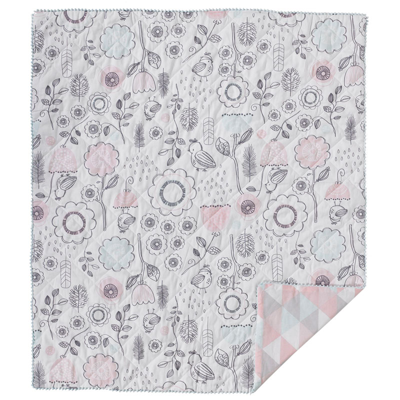 Sparrow Quilted Crib Comforter By Lolli Living