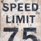 Speed Limit 75 Sign Canvas Wall Art