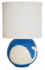Sphere Lamp in Blue Whale Silhouette