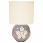 Sphere Lamp in Lavender Flower Character