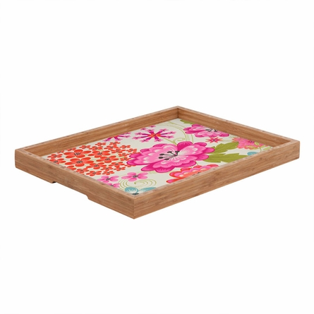 Spice Garden Taupe Rectangle Tray