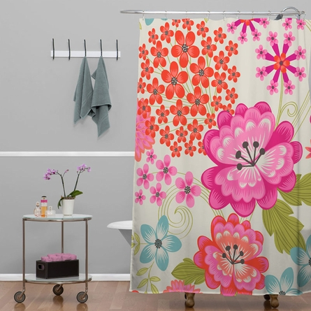 Spice Garden Taupe Shower Curtain