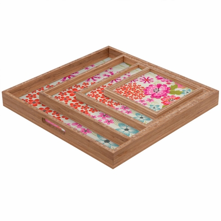 Spice Garden Taupe Square Tray