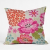 Spice Garden Taupe Throw Pillow