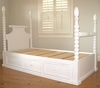 Spindle Platform Bed with Drawers