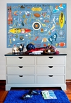 Sports Of The World - Blue Mural Wall Decal